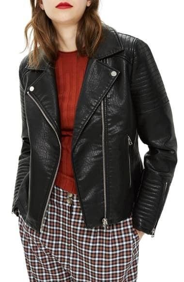 <p>This <span>Topshop Rosa Biker Jacket</span> ($50, originally $88) will never go out of style.</p>