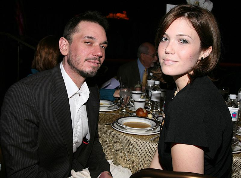 Adam Goldstein, known as DJ AM, attends a luncheon with Mandy Moore on Oct. 18, 2008, in Beverly Hills, Calif. (Photo: Angela Weiss/Getty Images)