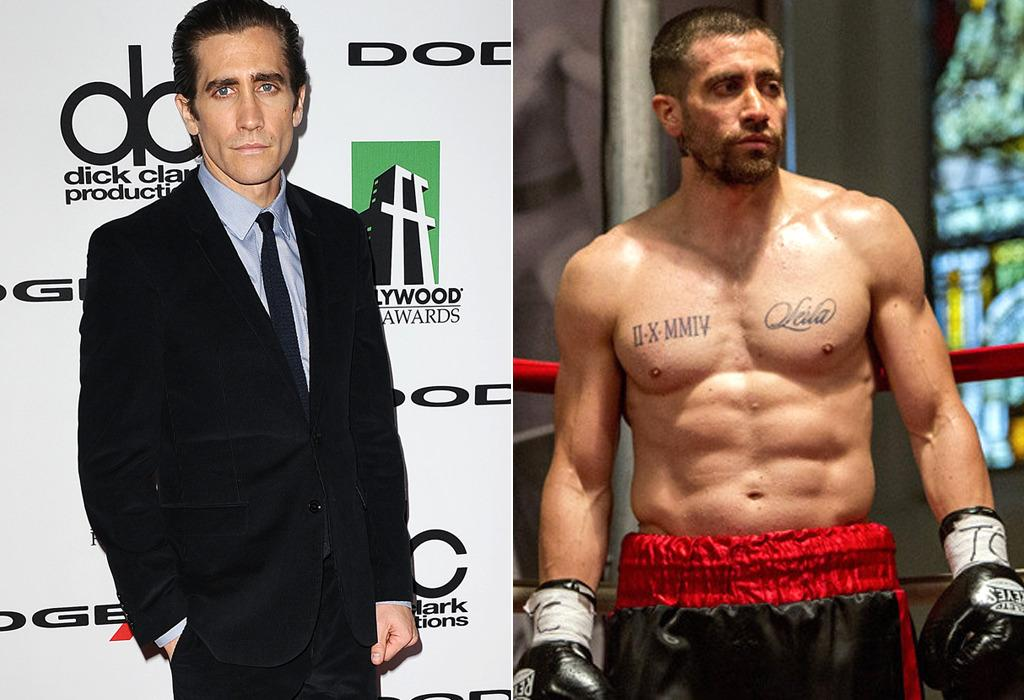 """<p>After <a href=""""https://www.yahoo.com/movies/how-much-did-jake-gyllenhaal-sacrifice-for-96478158642.html"""">dropping 30 pounds</a> to play a crime reporter in <i>Nightcrawler</i>, Gyllenhaal <a href=""""https://www.yahoo.com/movies/how-jake-gyllenhaal-became-a-fighter-for-117008565137.html"""">packed on 15 pounds</a> of pure muscle to play prizefighter Billy Hope in this year's<i>Southpaw </i>(right).(Photo: Getty Images/Weinstein Company)</p>"""