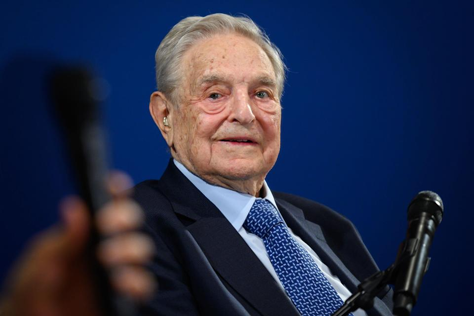 George Soros at the World Economic Forum in January 2020 (AFP via Getty Images)