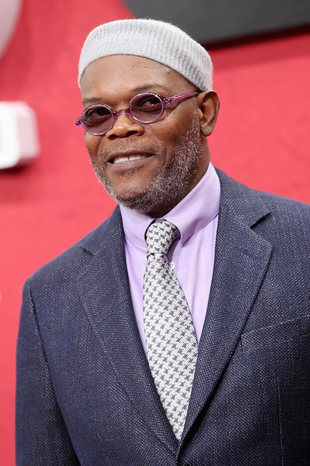 BERLIN, GERMANY - JANUARY 08: Samuel L. Jackson attends 'Django Unchained' Berlin Premiere at Cinestar Potsdamer Platz on January 8, 2013 in Berlin, Germany. (Photo by Sean Gallup/Getty Images for Sony Pictures)