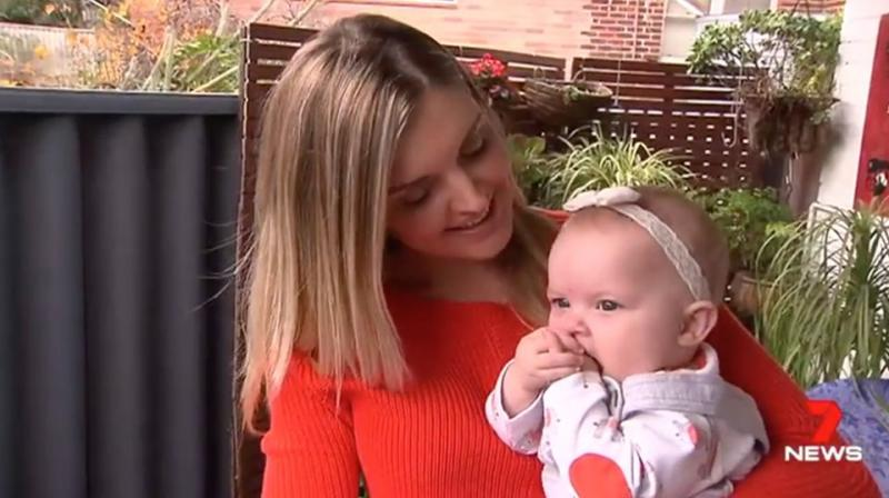 Liz McLaughlin gave birth to little Ivy in January. Source: 7 News