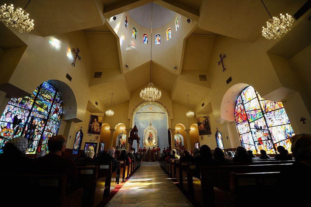 LOS ANGELES, CA:  Armenians celebrate Christmas mass at St. Garabed Armenian Apostolic Church in Los Angeles, California. File photo: 2011