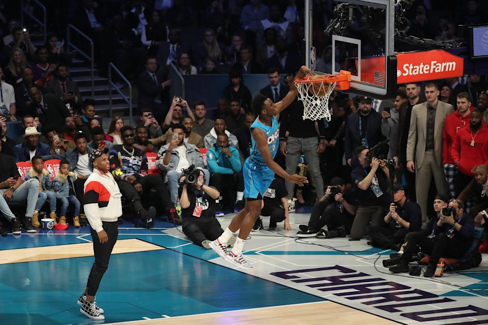 Hamidou Diallo brought it on Saturday at the NBA Dunk Contest, unlike some of his competitors. (Joe Murphy/NBAE via Getty Images)