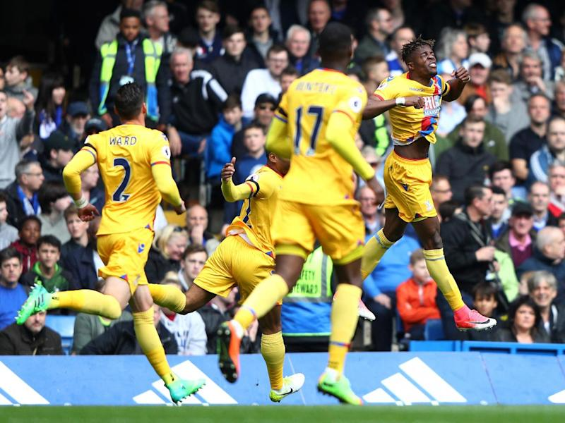 Wilfried Zaha equalised four minutes after Fabregas' opener (Getty)
