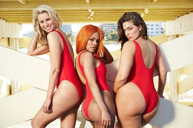 """Niki Taylor, Teyana Taylor and Ashley Graham pose for Swimsuits for All. (Photo: <a href=""""http://www.swimsuitsforall.com/"""" rel=""""nofollow noopener"""" target=""""_blank"""" data-ylk=""""slk:Swimsuits For All"""" class=""""link rapid-noclick-resp"""">Swimsuits For All</a>)."""