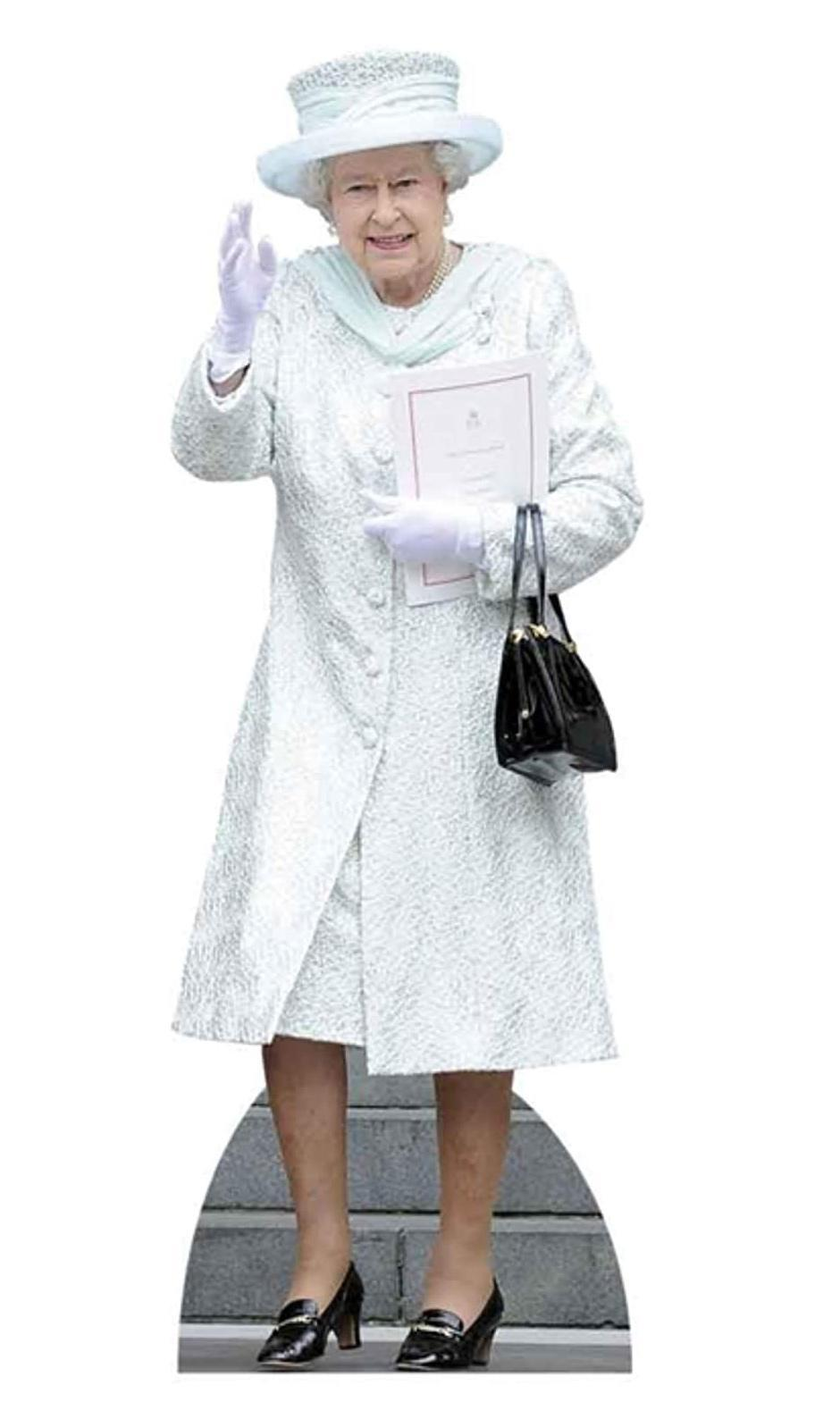 """<p>The ultimate party guest is here! Not only will any mom get a laugh at this Queen cut-out, but who better to keep a busy parent company?</p> <p><strong>Buy It! Queen Elizabeth Cardboard Cutout, <a href=""""https://www.amazon.com/Elizabeth-Lifesize-Standup-Cardboard-Cutouts/dp/B00JJ83PK6/"""" rel=""""sponsored noopener"""" target=""""_blank"""" data-ylk=""""slk:$55"""" class=""""link rapid-noclick-resp"""">$55</a></strong></p>"""