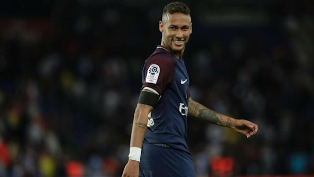 "<a class=""link rapid-noclick-resp"" href=""/olympics/rio-2016/a/1215128/"" data-ylk=""slk:Neymar"">Neymar</a> has three goals and three assists in two games for PSG. He might be too good for Ligue 1. (Goal.com)"