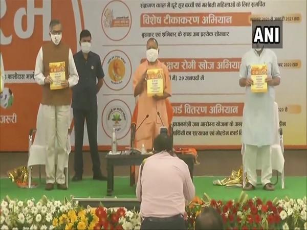 Chief Minister Yogi Adityanath launched a campaign for Tuberculosis (TB) vaccination in Lucknow today.