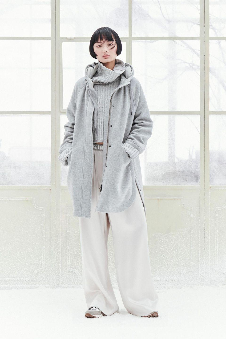 <p>Brunello Cucinelli is no stranger to the luxe leisure trend that has swept the fashion industry. To wit: The Italian designer built his brand on tailored double-faced cashmere tops and cardigans, along with mohair sweaters and coats. He has also consistently offered tailored drawstring trousers. Where others are now just presenting pieces inspired by pandemic life, Cucinelli was ahead of the curve. As a result, his fall 2021 collection—comprised of his stalwarts in subtle shades of brown, beige, cream, and gray—were miles ahead of the simple ribbed knit dresses that sprung up in most presentations this season. Indeed, the proportions of his pieces was a masterclass, the mixing textures was sublime, and the addition of crochet styles were a fun surprise.—<em>Barry Samaha</em></p>