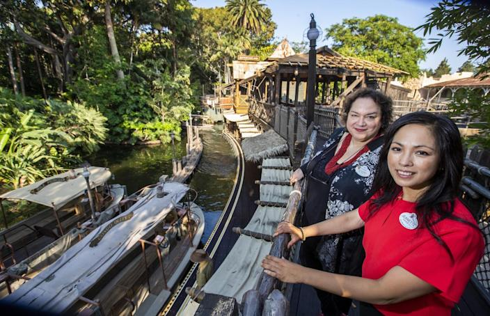 Jeanette Lomboy and Susana Tubert at the Jungle Cruise
