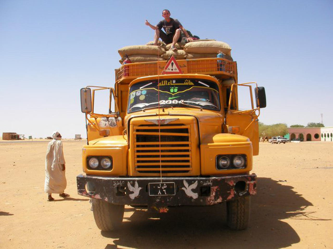 (PICTURED:A collect of Jeremy Marie hitching a lift on a truck as part of his world travels) A Frenchman has travelled over 100,000 miles around the world - by hitching a lift. From trekking in 50C heat through the deserts of Sudan to braving temperatures of -20C.. while thumbing a lift in Kazakhstan, Jeremy Marie has visited over 71 countries in the last five years. The 29-year-old globetrotter has hitched lifts with cars, boats, planes and even a donkey since he set off from Caen, Normandy in October 2007. Remarkably despite his 180,000km trip, Jeremy has not paid a penny towards his transport and instead relied on the generosity of strangers to give him a free ride. During his trip he hitchiked and sofa surfed his way across Europe, USA, South America, Africa, Australia, New Zealand and plenty more in between.