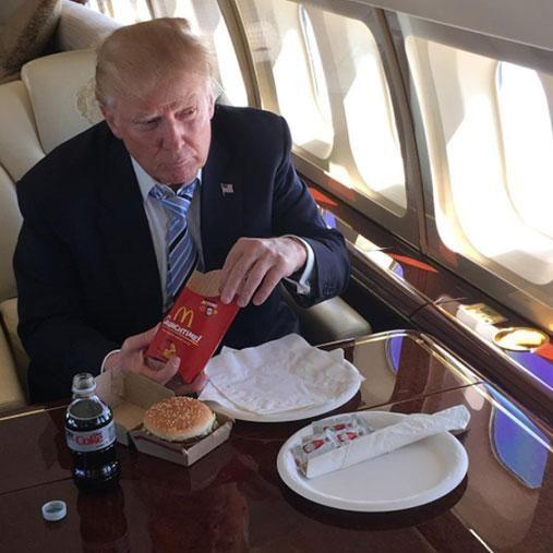 Trump is a big fan of junk food, saying