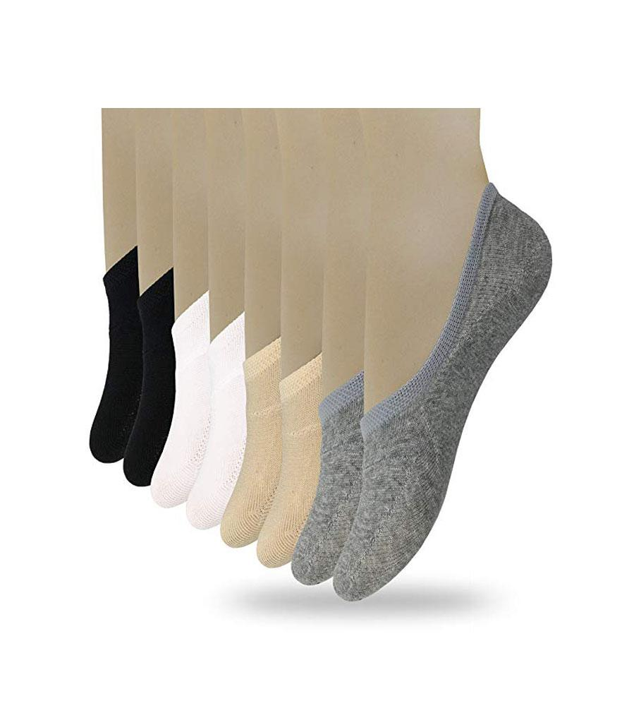 Eedor Women's 8 Pack Thin Casual No Show Non Slip Socks (Photo: Amazon)