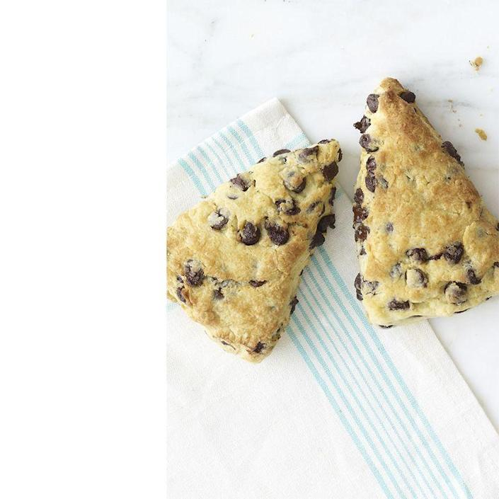 """<p>These chocolate scones are so good, Dad will be reaching for seconds, and maybe even thirds.</p><p><em><a href=""""https://www.womansday.com/food-recipes/food-drinks/recipes/a12057/sour-cream-chocolate-chip-scones-recipe-wdy0413/"""" rel=""""nofollow noopener"""" target=""""_blank"""" data-ylk=""""slk:Get the Sour Cream-Chocolate Chip Scones recipe."""" class=""""link rapid-noclick-resp"""">Get the Sour Cream-Chocolate Chip Scones recipe.</a></em></p>"""