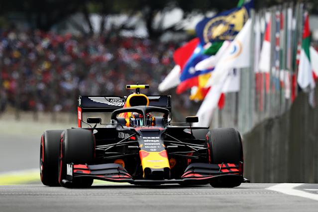 Albon facing in the qualifiers for the F1 Grand Prix of Brazil. (Getty Images)