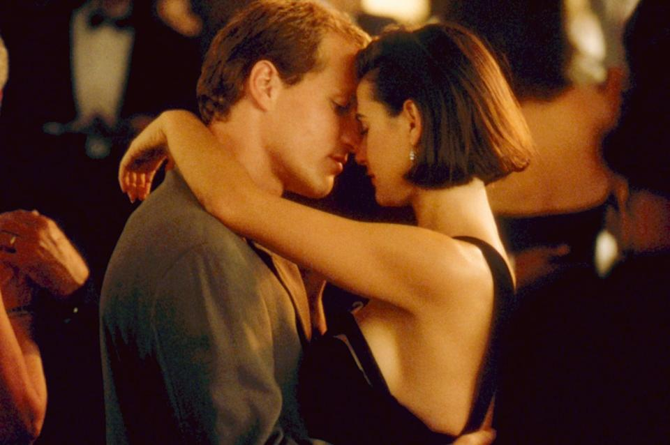 """<p>Woody Harrelson and <a class=""""link rapid-noclick-resp"""" href=""""https://www.popsugar.com/Demi-Moore"""" rel=""""nofollow noopener"""" target=""""_blank"""" data-ylk=""""slk:Demi Moore"""">Demi Moore</a> star in this romance as a sexy and successful husband and wife, who - when the recession hits and they find themselves broke - have to decide whether they're willing to accept money from a mysterious millionaire who offers to solve their money woes on one condition: the wife has to sleep with him.</p> <p><a href=""""http://www.hulu.com/movie/indecent-proposal-cd335151-78ef-41c3-83db-8590557d87e0"""" class=""""link rapid-noclick-resp"""" rel=""""nofollow noopener"""" target=""""_blank"""" data-ylk=""""slk:Watch Indecent Proposal on Hulu."""">Watch <strong>Indecent Proposal</strong> on Hulu.</a></p>"""