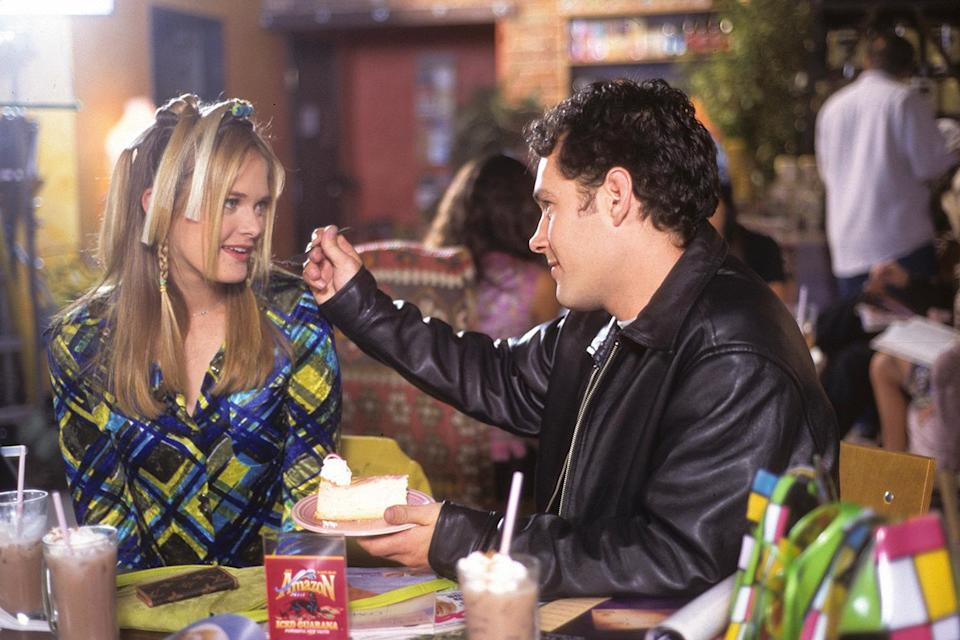 <p>Though he played Josh in the movie version, in 1996, Rudd played Sonny for one episode in the <em>Clueless </em>TV series, this time opposite Rachel Blanchard as Cher. He also fed her this cheesecake, and we have never been more jealous. </p>