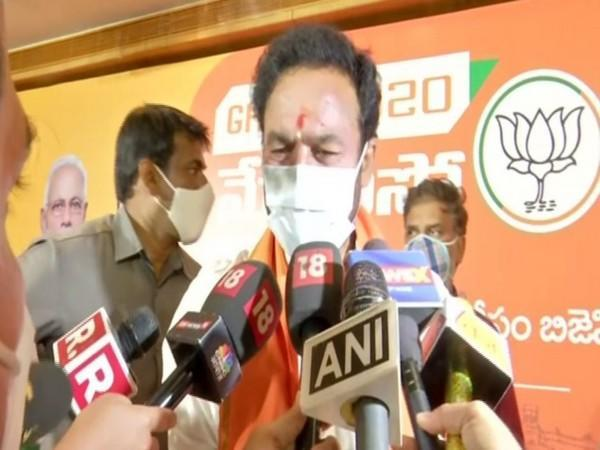 Union Mos Home G Kishan Reddy speaking to reporters in Hyderabad on Thursday [Photo/ANI]