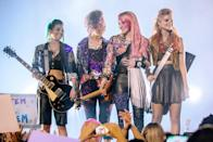 """<p>Thanks to the internet, rocker Jem becomes an overnight superstar, prompting her and her sisters to travel out to LA, where a mystery awaits. Watch <a href=""""http://www.netflix.com/search?q=Jem%20and%20the%20Holograms&amp;jbv=80052540"""" class=""""link rapid-noclick-resp"""" rel=""""nofollow noopener"""" target=""""_blank"""" data-ylk=""""slk:Jem and the Holograms""""><strong>Jem and the Holograms</strong></a> on Netflix now.</p>"""