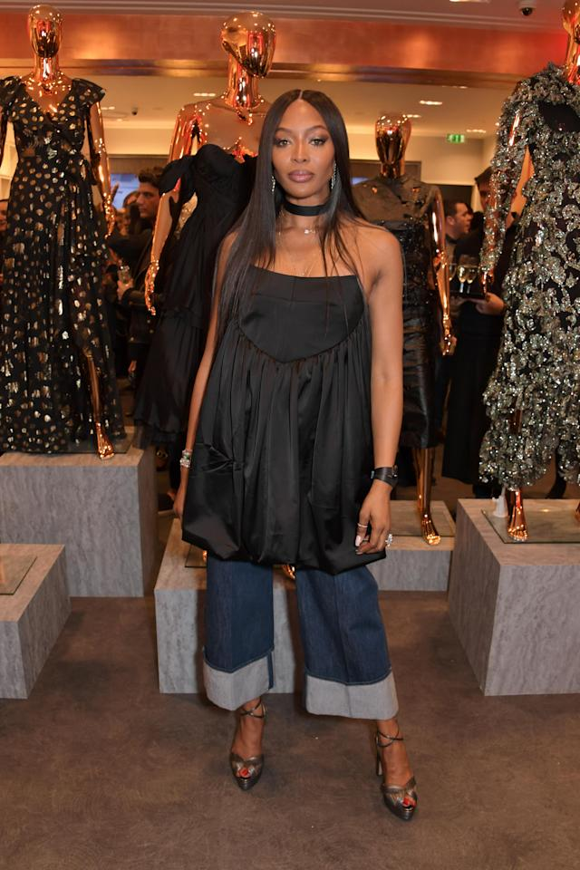 LONDON, ENGLAND - NOVEMBER 26: Naomi Campbell attends the launch of her Fashion For Relief charity pop-up store at Westfield London on November 26, 2019 in London, England. (Photo by David M. Benett/Dave Benett/Getty Images)