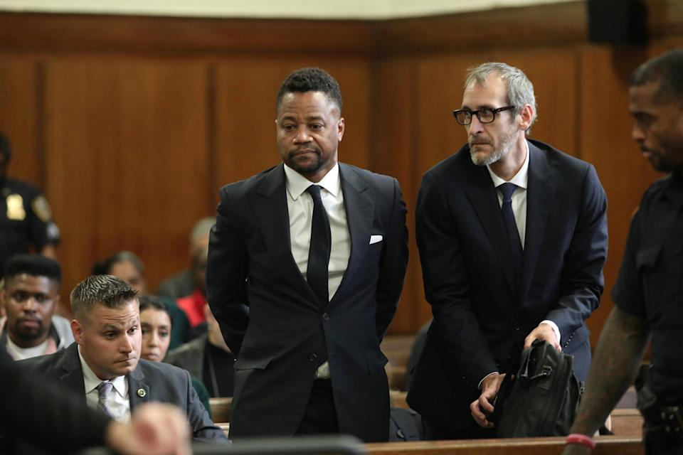 Actor Cuba Gooding Jr. appears for his arraignment in New York State Supreme Court in the Manhattan borough of New York, U.S., October 15, 2019. Alec Tabak/Pool via REUTERS