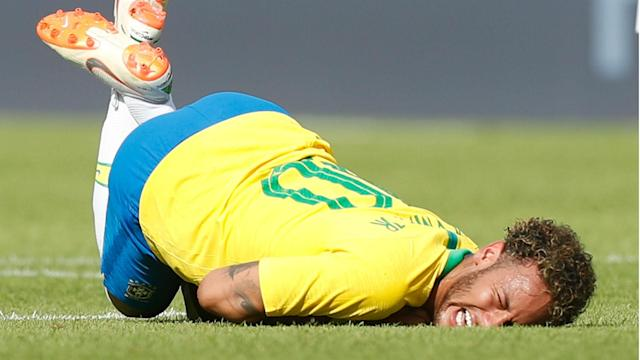 The Selecao forward netted a stunning goal in his side's final pre-tournament friendly but was the victim of some robust challenges