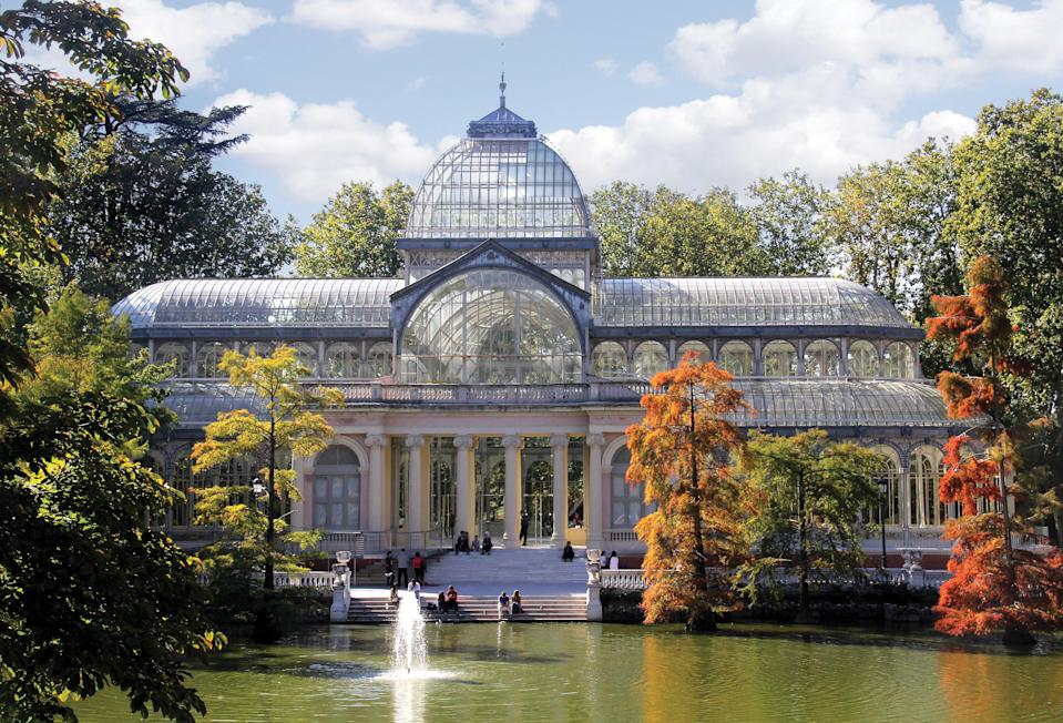 Inspired by London's long-lost Crystal Palace, which burned down in 1936, the Palacio de Cristal in Madrid was built to house plants from the Philippines, which was a Spanish colony when the structure was built in 1887.