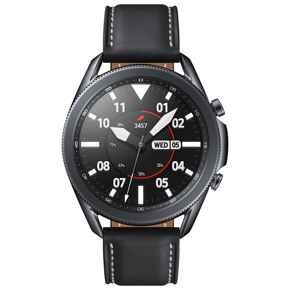 Samsung Galaxy Watch3 45mm Smartwatch with Heart Rate Monitor. Image via Best Buy.