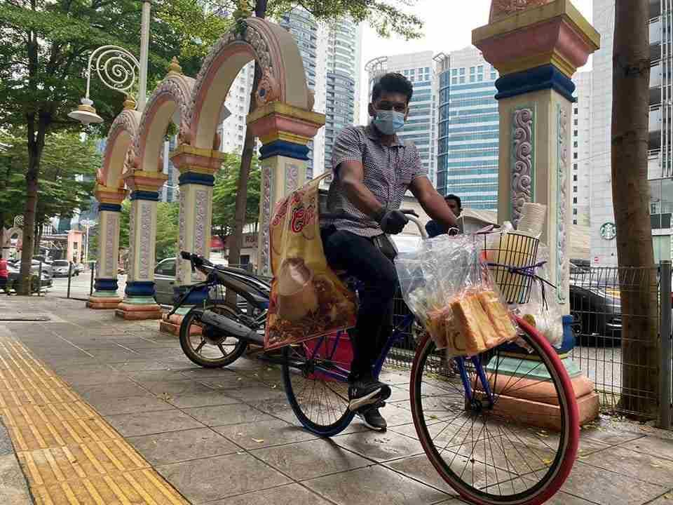 Kavie says he also takes orders via Whatsapp around Brickfields and will cycle to your location to deliver your cup of tea. — Picture via Facebook/Jack Tan