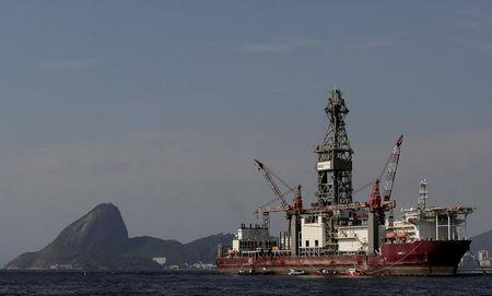 The Odebrecht Oil and Gas drillship is seen in the Guanabara bay in Rio de Janeiro