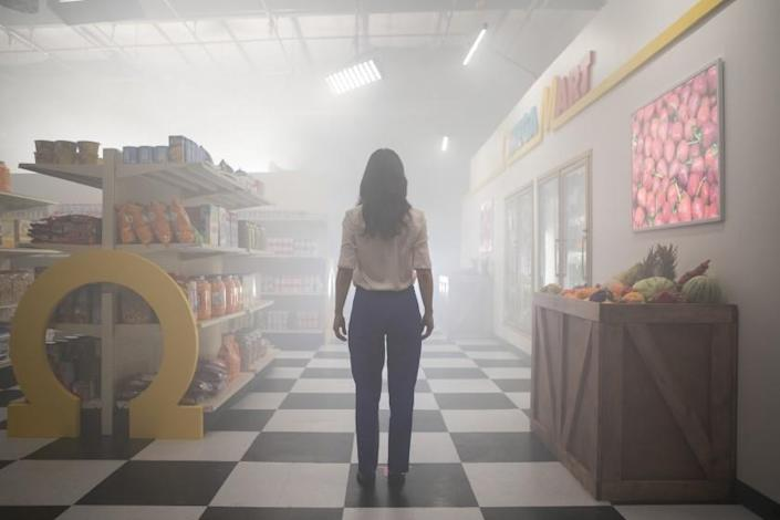 Inside the Meow Wolf Las Vegas experience, Omega Mart is a grocery store experience that can transport you to other realms.
