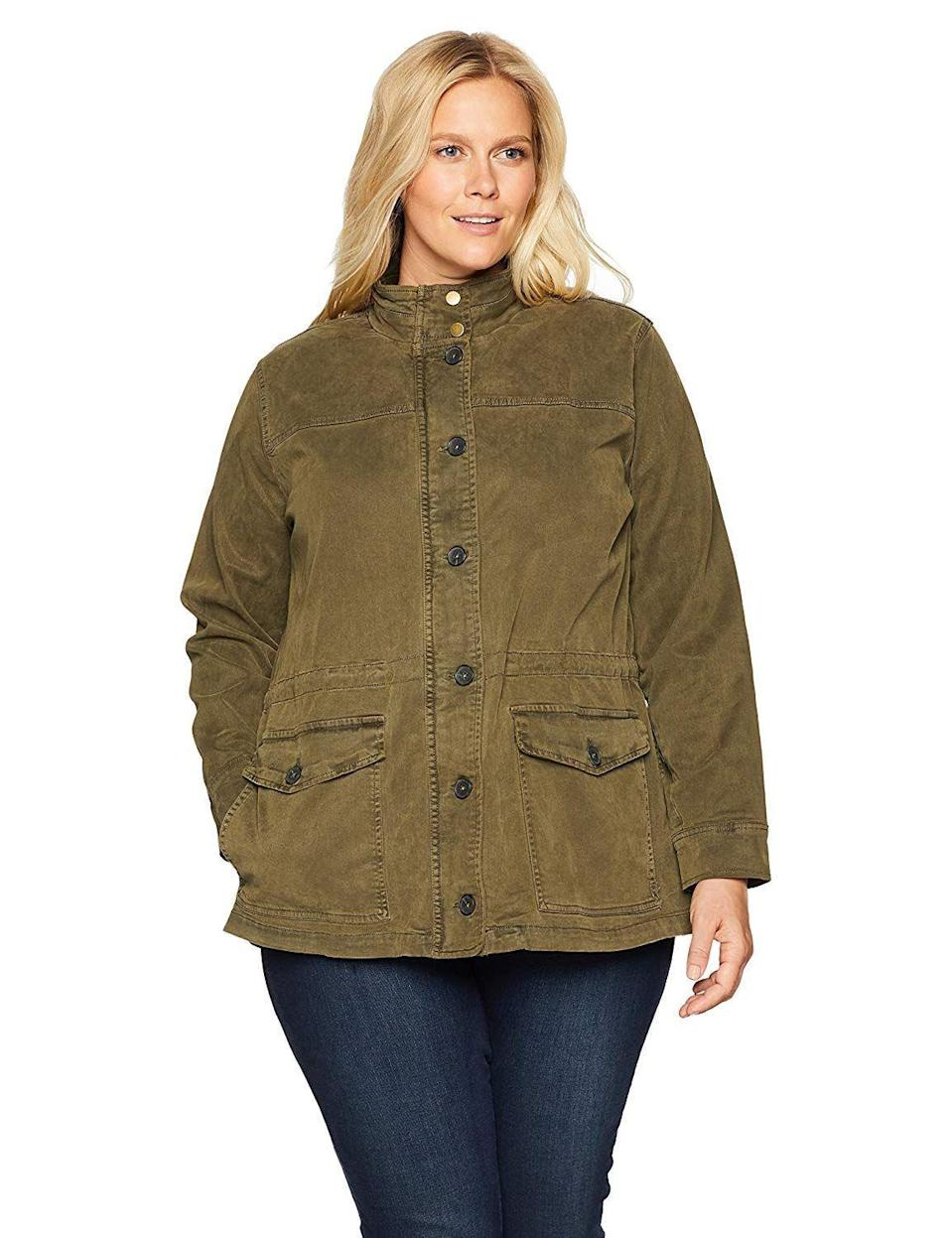 """<p><strong>Lucky Brand</strong></p><p>amazon.com</p><p><strong>$96.87</strong></p><p><a href=""""http://www.amazon.com/dp/B07D1KRYQ5/?tag=syn-yahoo-20&ascsubtag=%5Bartid%7C10049.g.28749279%5Bsrc%7Cyahoo-us"""" rel=""""nofollow noopener"""" target=""""_blank"""" data-ylk=""""slk:Shop Now"""" class=""""link rapid-noclick-resp"""">Shop Now</a></p><p>These typically have a boxy silhouette, no shortage of pockets, and are typically made of denim or waxed canvas—i.e., durable fabrics for roughing it. If you're hiking or camping outdoors, you def wanna add one of these to your cart. </p>"""