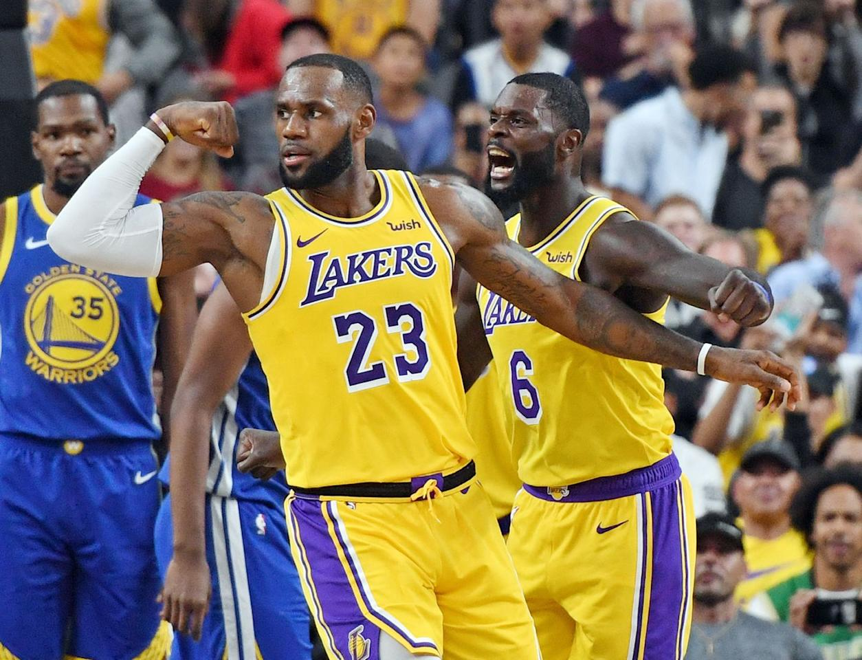 """<p>King James has a four-year contract with the Lakers that's worth $153 million, but he makes the bulk of his money through endorsements—according to <em><a href=""""https://www.forbes.com/profile/lebron-james/?list=celebrities#16c510ba2398"""" target=""""_blank"""">Forbes</a></em>, he has the NBA's top endorsement portfolio. </p><p>James also has his own production company and his own media company. Additionally, he and his partners own 14 Blaze Pizza franchises in Chicago, and seven in Florida. </p>"""