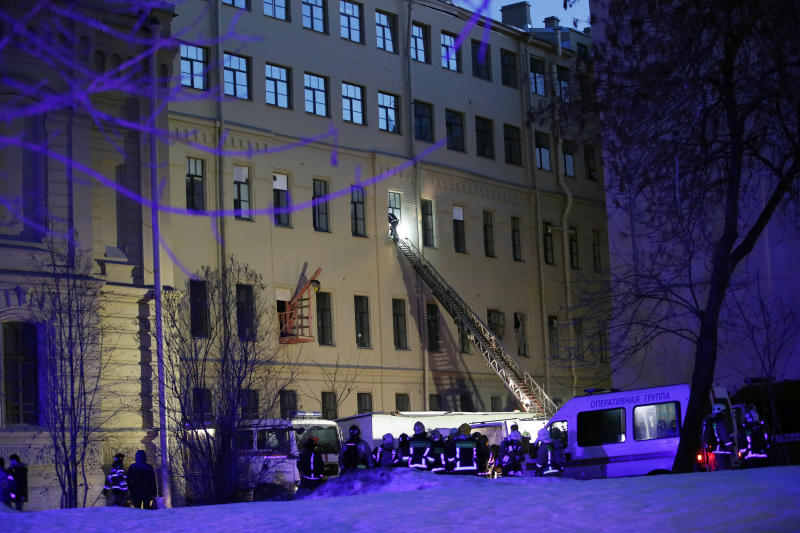 21 people feared under rubble after building collapses in Russia's St. Petersburg