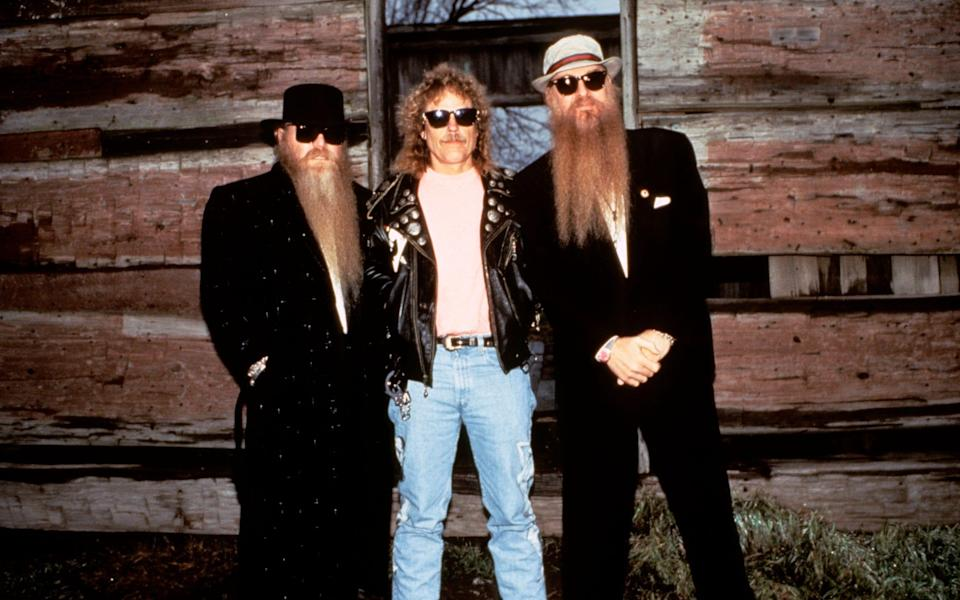 ZZ Top in 1981, l-r, Dusty Hill, Frank Beard and Billy Gibbons - Ebet Roberts/Redferns