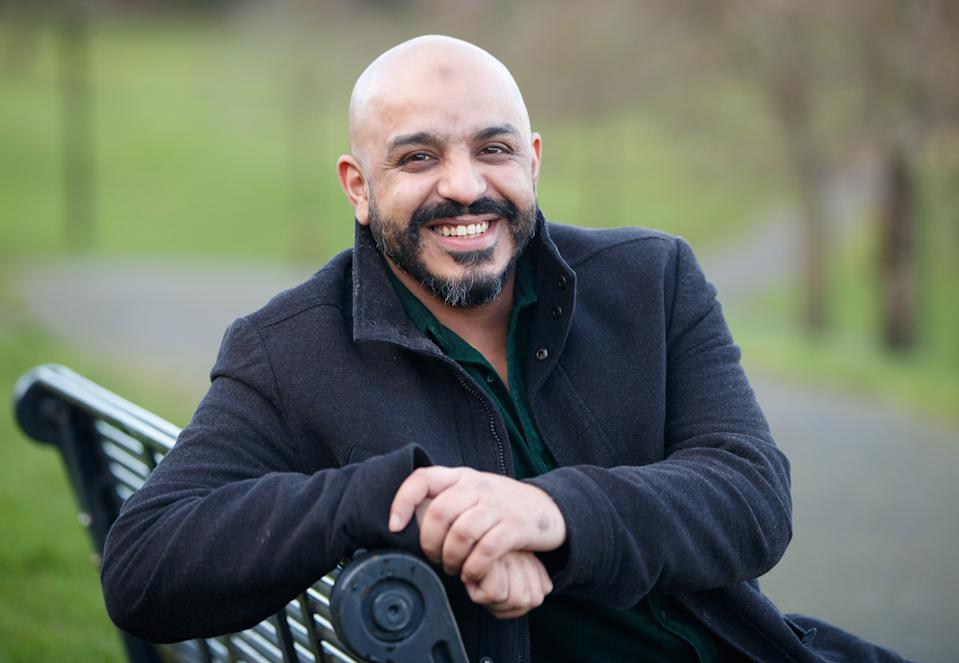 Nadeem Sadiq Khan,40, a Charity Helpline Housing Adviser and Shelter Team Leader, who has been awarded a BEM for services to the Homeless during Covid-19 in the New Year's Honours List, pictured at Osgathorpe Park in Sheffield.