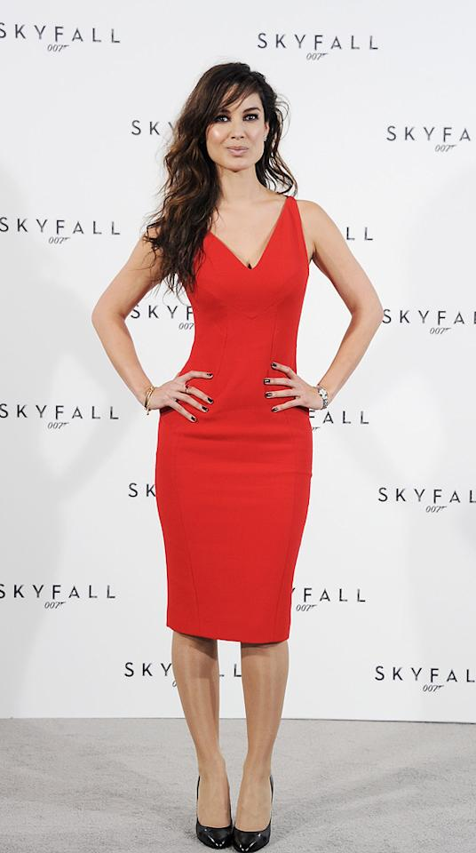 """Berenice Marlohe attends a photocall with cast and filmmakers to mark the start of production which is due to commence on the 23rd Bond Film and announce the title of the film as """"Skyfall"""" on November 3, 2011 in London."""