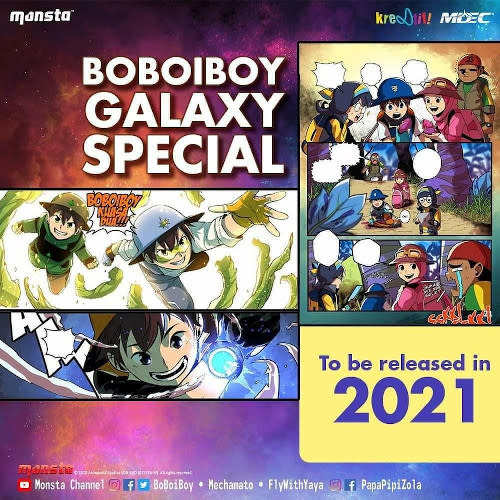 """""""BoBoiBoy Galaxy Special"""" will be a special release for fans in celebration of the 10th anniversary of """"BoBoiBoy""""."""