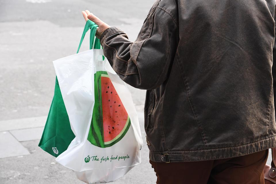Free single-use bags have been replaced by 'reusable' bags at most Australian supermarkets. Source: AAP