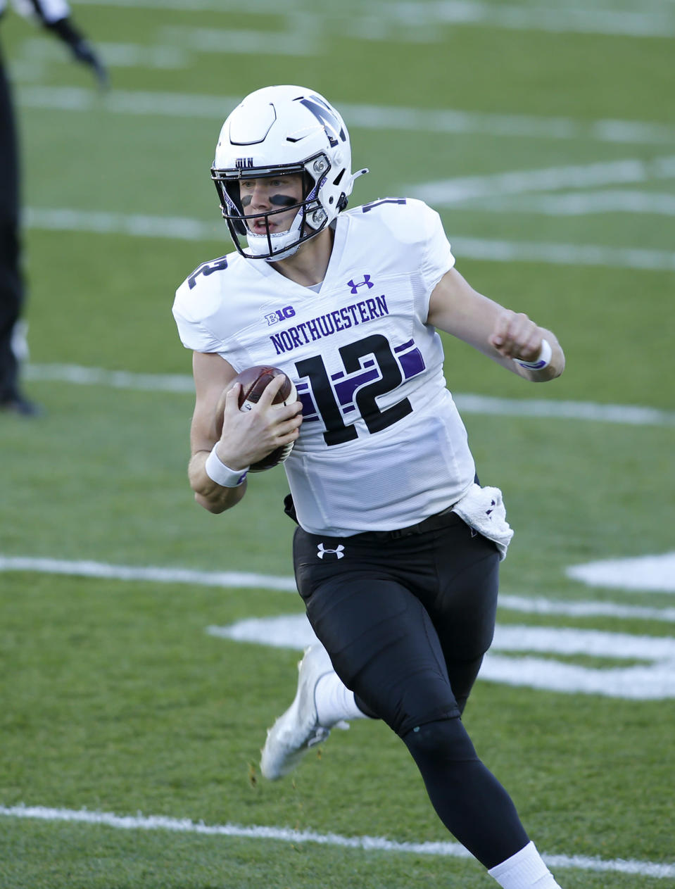 Northwestern quarterback Peyton Ramsey runs on a keeper against Michigan State during the first half of an NCAA college football game, Saturday, Nov. 28, 2020, in East Lansing, Mich. (AP Photo/Al Goldis)