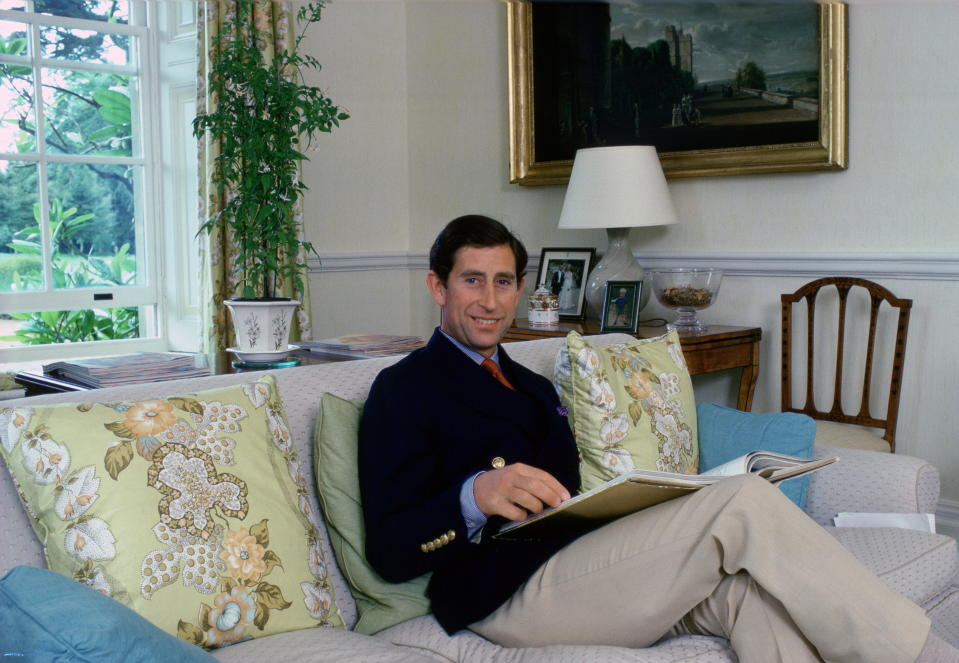 TETBURY, UNITED KINGDOM - AUGUST 11:  Prince Charles Sitting In His Living Room At Home In Highgrove House.  (Photo by Tim Graham Photo Library via Getty Images)