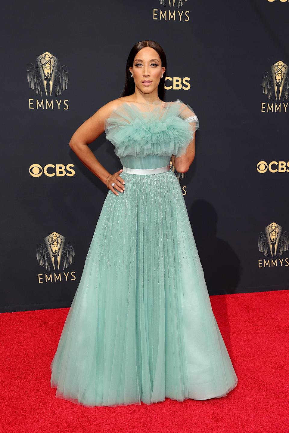 This aqua tulle gown from Jason Wu is classic and oh-so-pretty.