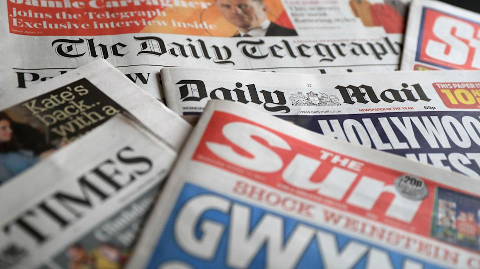 What the papers say – July 20 (PA) (PA Archive)