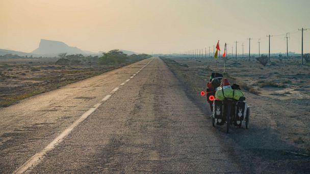 PHOTO: Bikes on the Pamir highway in Tajikistan. (STOCK IMAGES/Getty Images)