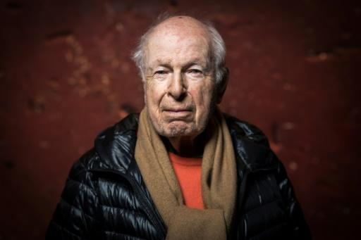 Legendary British theatre director Peter Brook in the Bouffes du Nord theatre in 2018
