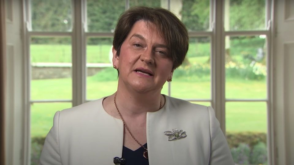 Foster overplayed her hand for almost six years and did more damage to the union with Britain than Republicans could have dreamed ofDUP/YouTube