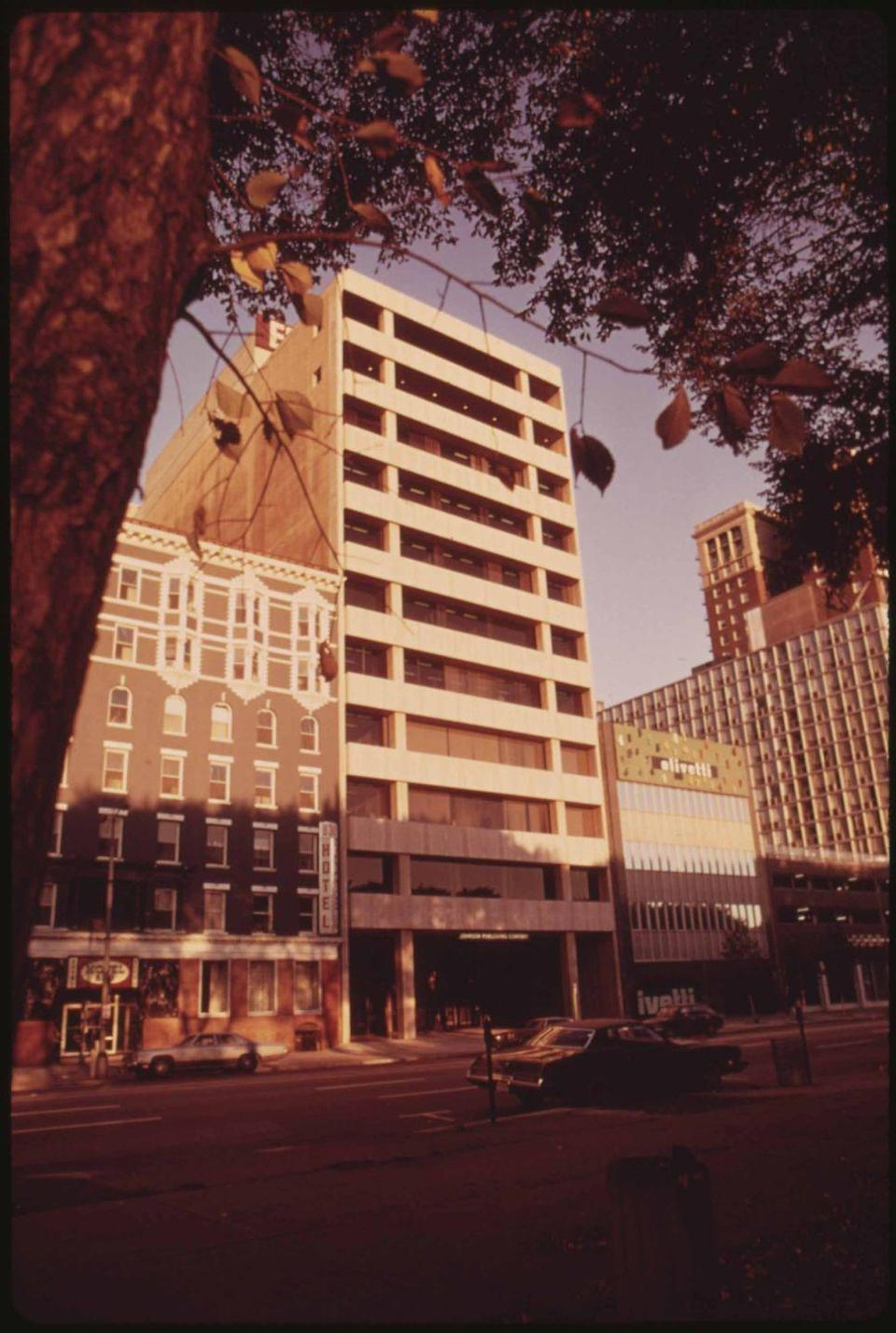 """<p>After graduating in 1948 with a degree in architecture from the Illinois Institute of Technology where he studied under Mies Van Der Rohe, Moutoussamy became the first Black architect to design a high-rise building in Chicago. That building, the Johnson Publishing Company headquarters (shown), was home to the <em>Ebony</em> and <em>Jet </em>magazine offices and remains the only downtown Chicago tower designed by a Black architect.</p><p>Moutoussamy designed many other buildings in Chicago, including Richard J. Daley College, Olive–Harvey College, Harry S. Truman College, and the Chicago Urban League building. He was a partner at Dubin Dubin Black & Moutoussamy and served on the board of trustees of Loyola University Chicago and the <a href=""""https://www.artic.edu/"""" rel=""""nofollow noopener"""" target=""""_blank"""" data-ylk=""""slk:Art Institute of Chicago"""" class=""""link rapid-noclick-resp"""">Art Institute of Chicago</a>.</p>"""