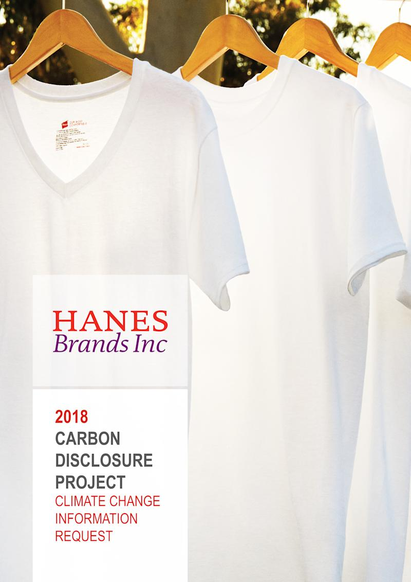 HanesBrands Achieves Leadership Position in CDP 2018 Report; A- Score Highest in Apparel Industry