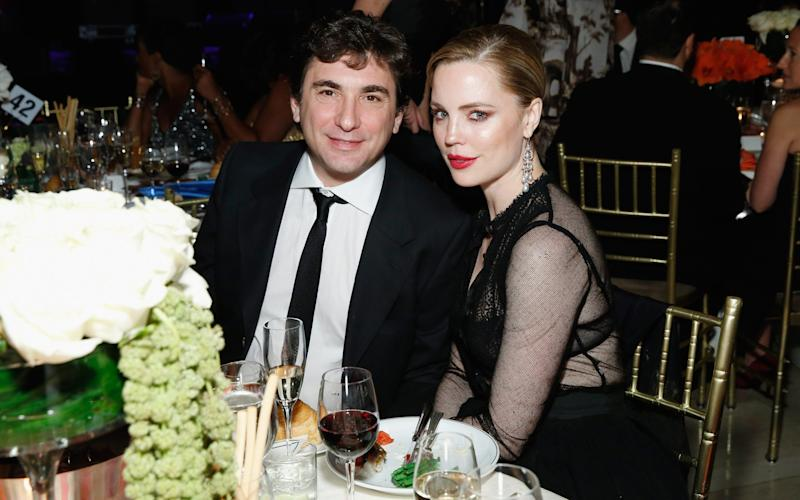 Jean-David Blanc and Melissa George at a ball in 2014 - 2014 Getty Images